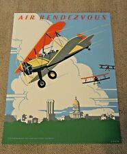 Air Rendezvous Sherman Oren Poster Springfield Il 1984 Air Show