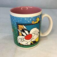 Vintage Looney Tunes Sylvester and Twetty Bird Six Flags Mug Warner Brothers