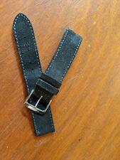 Nomos Glashutte Suede Leather (Black) Watch Strap / Band (18mm) & Buckle