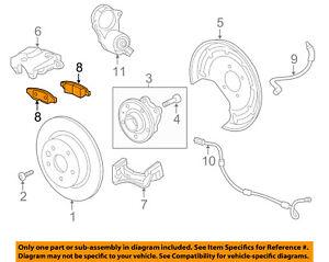 GM OEM Brake-Rear Pads 13595651