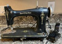 The Improved Eldredge Rotary Sewing Machine Patent 1920 Antique Tested Working