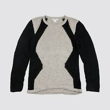 Helmut Lang Knit Sweater Alpaca Blend Gray Black Womens Medium