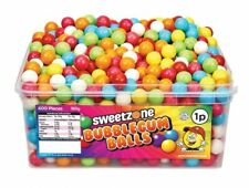 600 PCs Bubble Gum Balls Sweets Bubblegum Ball Jelly Fizzy Candy Chewy Full Tub