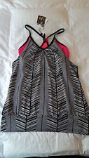 NWT  Body  Double Band Tank  Sz. Small  NEW  Pink/Black/White