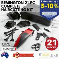 Remington Mens Electric Hair Clippers Trimmer Haircut Shaver Kit Corded 21 Piece