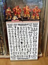 # WWF HASBRO figures Collectors póster Check List a3 Hulk Hogan Bret Hart Bomb #