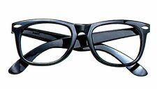 Retro Nerd Fashion Unisex Eyewear NO LENS Fake Eye Glasses Black Frame Halloween