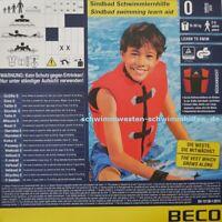 Schwimmweste SINDBAD ® Kinder 2-7J. bis 30 kg BECO Schwimmhilfe Schwimmlernhilfe