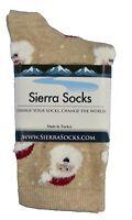 Sierra Socks Fashion Color Santa Claus Women's Soft  Cotton Crew Socks W162
