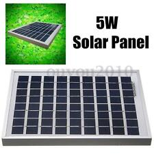 New 5W Solar Panel Ploy Solar Module 12V Battery Charger for Caravan Boat Power