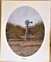 Alberto Meza Windmill Print 1979 Ltd Ed 166/500 Artist Signed.