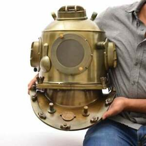 Vintage La-Spezia Diving Helmet ~ Marine Divers Scuba Boston Antique Navy Helmet