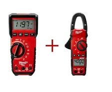 Digital Multimeter 400-Amp Clamp Meter Value Bundle voltmeter ammeter ac tester