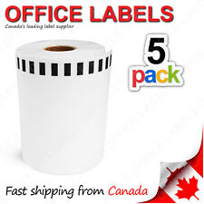 5 Rolls of DK-2243 BROTHER® Compatible Tape 4'' x 100' (Without Holder)