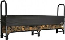 Firewood Fireplace Fire Wood Pile Log Rack Storage Holder Outdoor Cover 8 ft