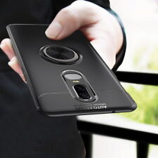 For Oneplus 6 Luxury Rotating Shockproof Slim Ring Magnetic Kickstand Cover Case