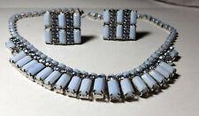Vintage Light Blue Weiss Necklaces & Er'S Signed