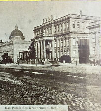 ANTIQUE STEREOSCOPIC CARD ~ PALAIS DES KRONPRINZEN, BERLIN  STEREOVIEW 3-D IMAGE