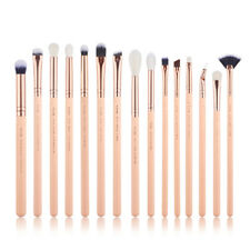 UK Jessup Make Up Brushes Eyes 15Pcs Set Eyeshaow Eyeliner Lip Brow Smoky Pink
