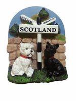 Scotland Fridge Magnet 2 Scottish Dogs,Scotland , Highland sign Souvenir Gift