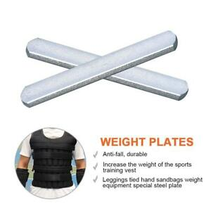 Running Weighted Vest Weights Steel Plate Adjustable Workout Jacket lbs Training