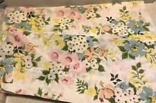 Vintage Pillowcase Pair Of White With Spring Flowers 20/30
