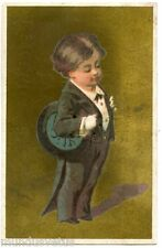 CHROMO. Enfant . Costume queue de pie . Child. tailcoat suit