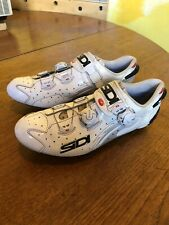 Sidi Wire Carbon Vent Sole Vernice White Road & MTB/Gravel Cycling Shoes EU 43