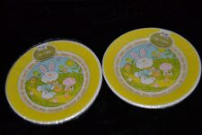 "Lot of 2 Vtg 6 BARNABY BUNNY Dessert Paper Plates 7"" Sealed! EASTER HOLIDAY"