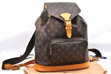Authentic Louis Vuitton Monogram Montsouris GM Backpack M51135 LV 81117