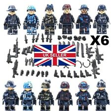 New SWAT Police Team Military Army Soldier Minifigures With Weapon for Lego