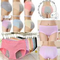 L~XXL Women Menstrual Period Leakproof Panties Bamboo Fiber High Waist Underwear