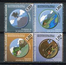 Ecuador 2011 Katastrophen Vulkan Erdbeben Überschwemmung Volcano 3350-3353 MNH