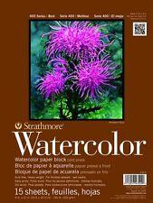 "Strathmore Watercolor Paper Block Series 400 Cold Press 9"" x 12"" 140lb 15 Sheets"
