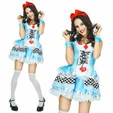 Alice in Wonderland Ladies Disney Fancy Dress Party Card Halloween Women Costume