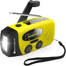 Emergency Hand Crank Self Powered AM/FM NOAA Solar Weather Radio-Yellow