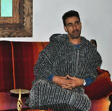 Wool handmade Djellaba,Hooded warm Coat, casual jacket, men festival jacket,navy