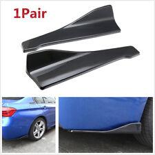 2x Car Car Bumper Spoiler Rear Lip /Side Skirt Extension Splitters Winglet Wings