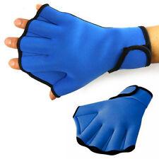 1 Pair Webbed Swim Gloves Surfing Swimming Paddle Training Fingerless Gloves