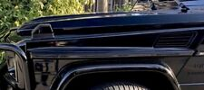 MERCEDES BENZ W463 G500 G55 G63 G65 AMG CARBON FIBER CF SIDE MOLDING TRIM RARE