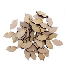 50 x Wooden Laser Cut MDF shapes Craft Blank Embellishments - Lips 28x12mm