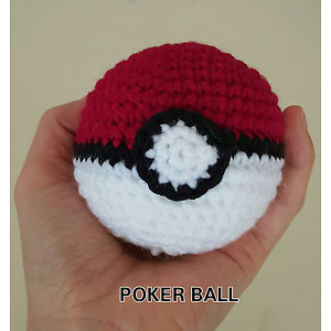 Hand crochet Pokemon ball