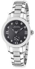 Swiss Made Bulova Accutron 63P000 Masella Diamond Accented SS Ladies Watch
