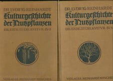 Flora Kulturgeschichte der Nutzpflanzen Dr. Reinhardt 1911  Bde. 1 + 2