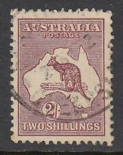 1929 2/- MAROON KANGAROO, small multiple watermark, Used