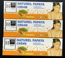H20 Jours Cream Lightening Creme Papaya Extract 1.76oz No Taches (Pack of 3) 50g