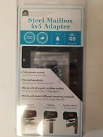 Architectural Mailboxes Post Adapter in Black w/ 3 Mailbox Mounting Options