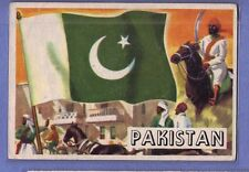 1956 TOPPS FLAGS OF THE WORLD #72 PAKISTAN EX