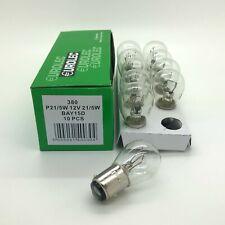 10 x Eurolec 380 P21/5W BAY15D Brake Stop & Tail Light Car Bulbs 12v 21/5w