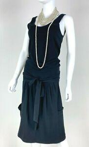 Sonia Rykiel New 4 US 40 IT S Black Stretch Cotton Dress Pockets Runway Auth